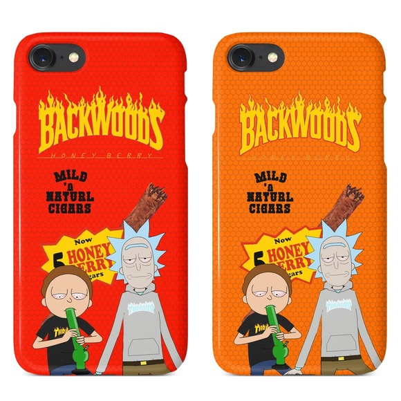 designer fashion dd9cd 3a4a7 Rick Morty Thrasher Backwoods iPhone 5 6 7 X Case